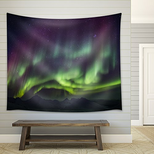Arctic Magical Landscape Northern Lights Fabric Wall