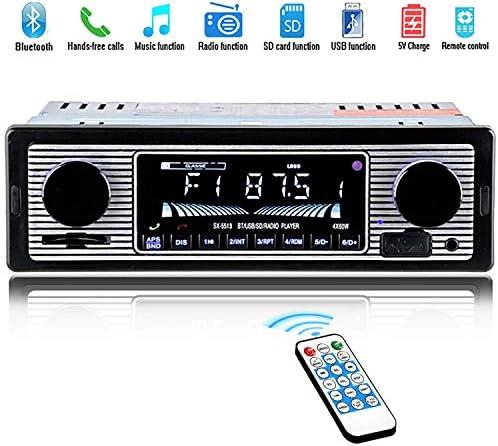 12V Bluetooth Retro Car Radio MP3 Player Stereo USB AUX Clas