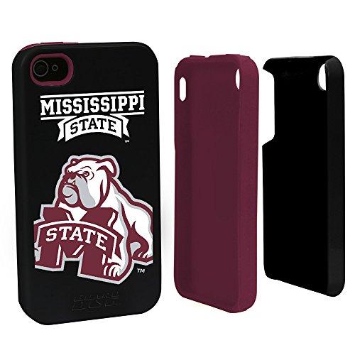 Mississippi State Bulldogs Guard Dog Hybrid Case for iPhone 4 / 4s - Black - Mississippi State Iphone 4 Case