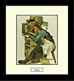 Norman Rockwell LAW STUDENT Framed Lawyer Wall Hanging Art Gift