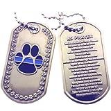 K-9 Prayer Brushed Steel Dog Tag