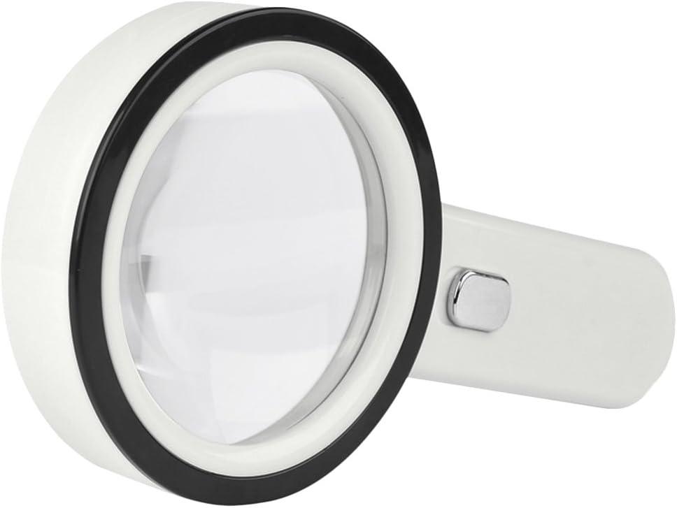 Leselupe 10X Handlupe mit 12 LED Licht Gro/ße Beleuchtete Lupe Acryl Linse Vergr/ö/ßerungsglas f/ür B/ücher Zeitungen M/ünzen Schmucken Inspektion Hobby