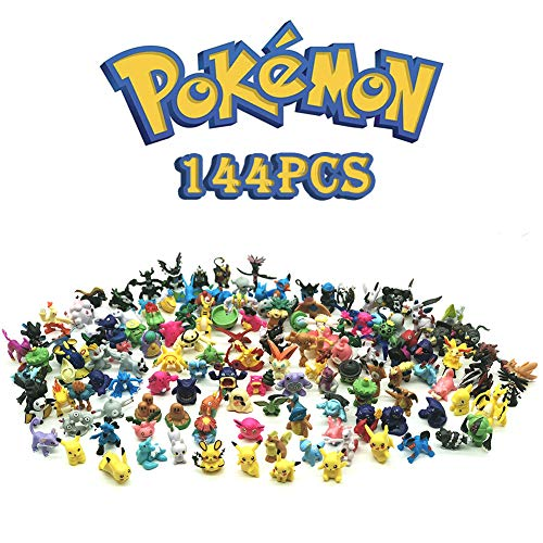 Anime Figures, Action Figures, 144 Mini Figures Toy for Kids, Party Favors Birthday Gift Educational Toy Family Fun Gift, Randomly Plastic Monster Figures Mini Size Gift, 144-Piece, 0.8-1.2-inch