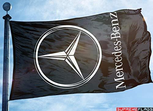 Mercedes Benz Flag Banner 3x5 ft German Car Wall Automobile Racing F1 Garage ()
