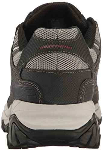 Skechers mens Afterburn M. Fit fashion sneakers, Charcoal/Black, 16 X-Wide US