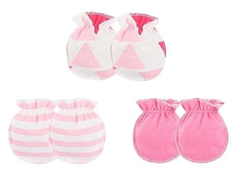 M] 3 pares de mitones para bebés recién nacidos Manoplas sin algodón ...