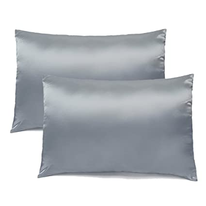 Satin Pillowcase For Curly Hair Interesting Amazon FabricMCC Silk Pillowcase Hypoallergenic Queen Size