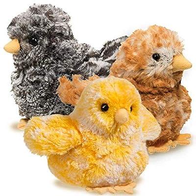 Douglas Brown Multi Chick Plush Stuffed Animal: Toys & Games