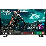 """""""Smart TV 42 Philco Full HD, Wifi Integrado, Conversor digital, Entradas 3 HDMI, 1 USB, 60Hz, 20w RMS, Bivolt - PTV42E60DSWN"""""""