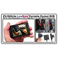 Lawmate PV-500 Lite 3 Hidden Covert Touchscreen Surveillance DVR + 420 Resolution Button Camera by StuntCams