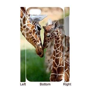 J-LV-F Diy hard Case Giraffe customized 3D case For Iphone 4/4s