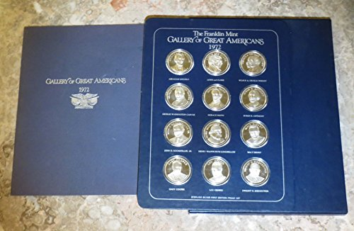 Gallery of Great Americans Franklin Mint 1972 12 Silver Rounds First Edition Proof Set ()