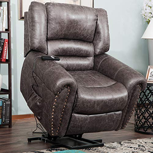 Harper  Bright Designs Lift Chair Heavy-Duty Power Lift Recliner Chair for Elderly Built-in Remote and 2 Castors, Distressed Brown best to buy