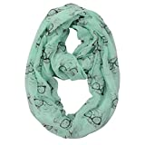 Summer Infinity scarves - Animal print scarf – Eye glasses print - With dog design - Cat design – Ocean creatures/sea shells print