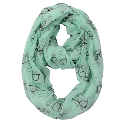 Summer Infinity scarves - Animal print scarf – Eye glasses print - With dog design - Cat design – Ocean creatures/sea shells - Print Animal Glasses