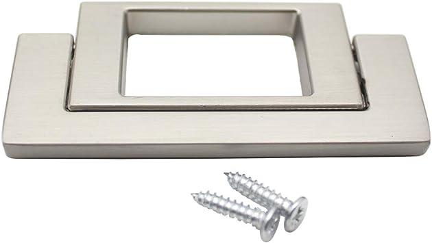 """2.5/"""" Hole Center Kitchen Cupboard Wardrobe Drawer Door Hidden Pull Handle Knob"""