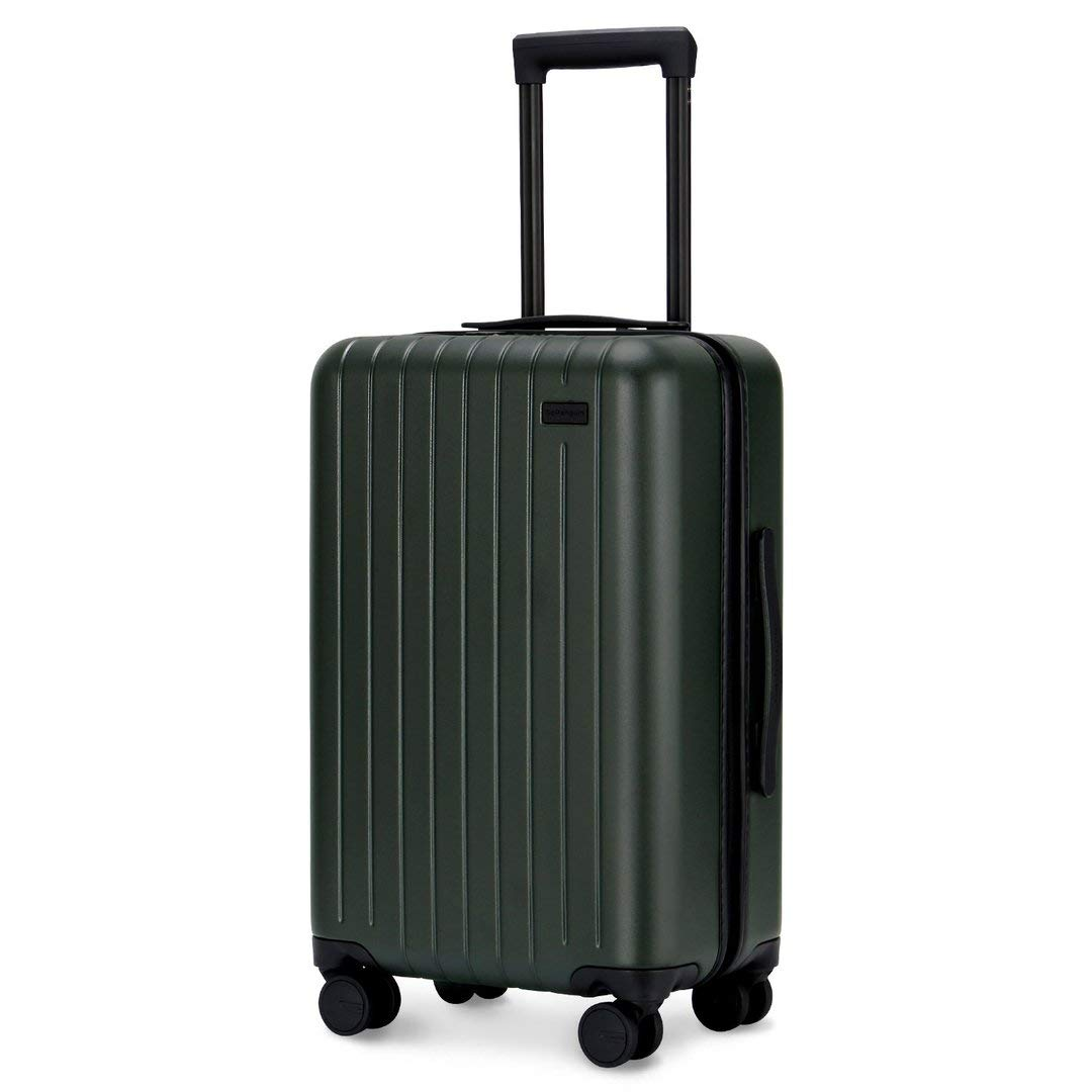GoPenguin Luggage, Carry On Luggage with Spinner Wheels, Hardshell Suitcase for Travel with Built in TSA Lock Green