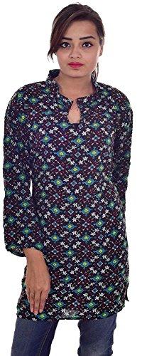 Indian-Rayon-Cotton-Kurta-Top-Women-Multi-Color-EthnicTunic-Kurti-Floral-Print-plus-size
