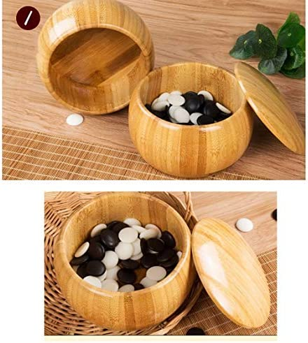 Ding Go Game Set Bamboo Go Board Inclusief Bowls and Stones Classic Chinese Strategy Board Game