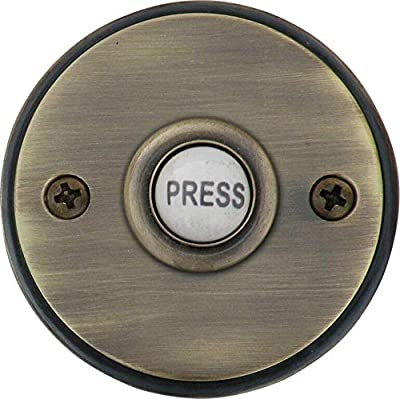 "Knoxx Hardware BP4 Series 2.5"" Dolly Door Bell Button, 1-Pack"
