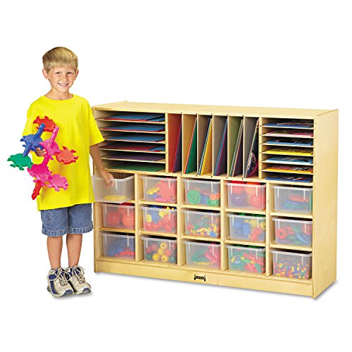 Sectional Mobile Cubbie, No Trays, 48w x 15d x 35-1/2h, Birch ()