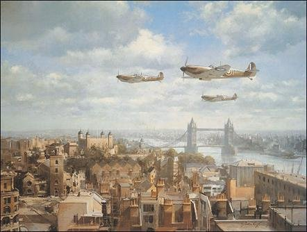 Spitfires over London, by John Young - Open Edition