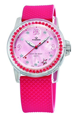 Amazon.com: PASNEW Girls Watch, Dress Jewelry Waterproof Watch 418 Rose Red: Health & Personal Care