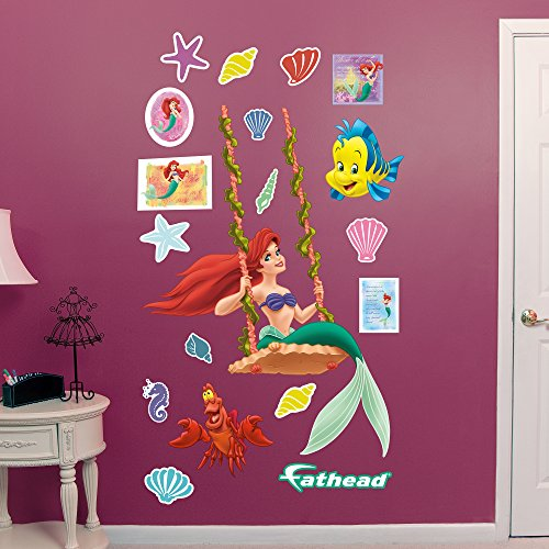FATHEAD Ariel: Swinging-Officially Licensed Disney Removable Wall Decal ()
