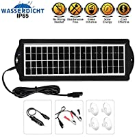 Solar Battery Charger Car, 3.5W 12V Sola...