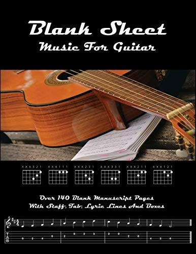 Blank Sheet Music for Guitar ()