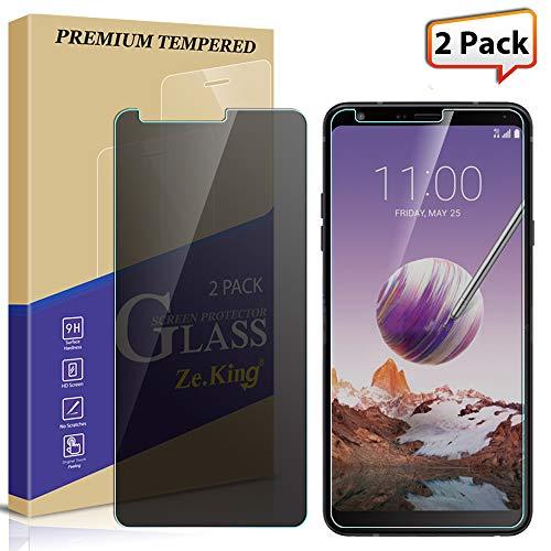 [2-Pack] Stylo 4/Stylus 4 Plus/Q Stylus Privacy [Anti Spy] Screen Protector Tempered Glass, Zeking [Ant-Glare] [Anti Scratch][Anti-Fingerprint] Bubble Free, Lifetime Replacement Warranty