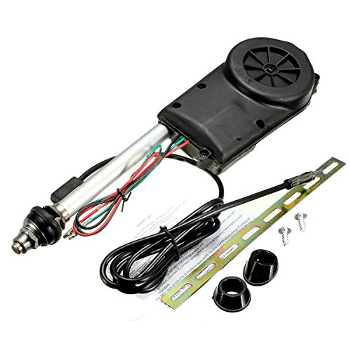 Antenna Kit - TOOGOO(R) Car Electric Aerial Radio Automatic Booster Power Antenna Kit Black