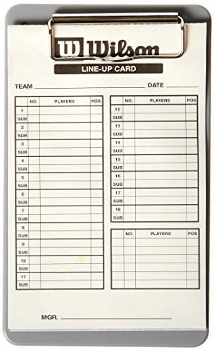 - Wilson Lineup Cards
