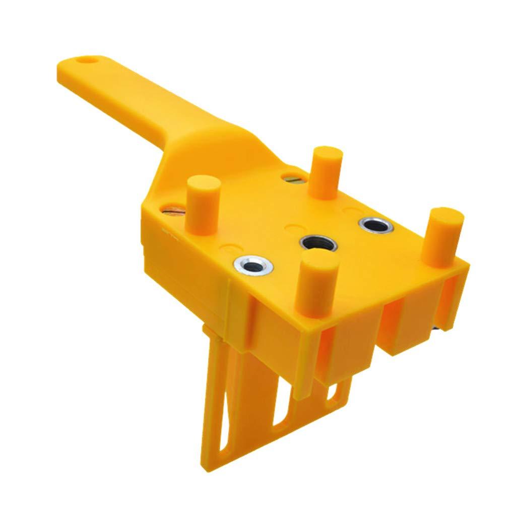 RRI/41pcs set Handheld Woodworking Dowel Jig Guide para 6 8 10mm Brocas Brocas de madera Taladro recto Taco con funda de metal