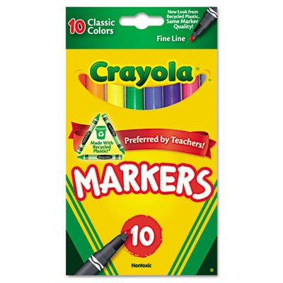 Crayola 58-7726 Classic Fine Line Markers Assorted Colors 10 Count PDF