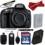 Nikon D5300 24.2 MP CMOS Digital SLR Camera with Built-in Wi-Fi (Body Only) with Professional Accessory Bundle (10 items)