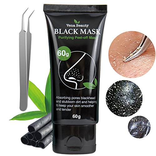 Blackhead Remover Black Mask Purifying Peel-off Mask (60g + Blackhead Extractor Tool) by Vena Beauty