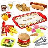 NEOWOWS 44 Pcs Play Food Toys Kids Pretend Play