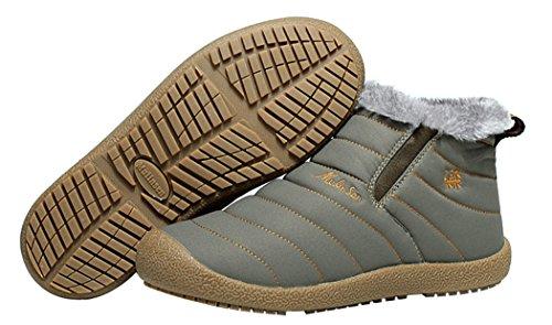 Mulinsen Christmas Men's Winter Nanometre Wool Cotton Boots(10D(M)US,khaki)