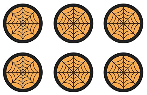 Halloween Spider Webs Edible Cupcake Toppers Decoration ()
