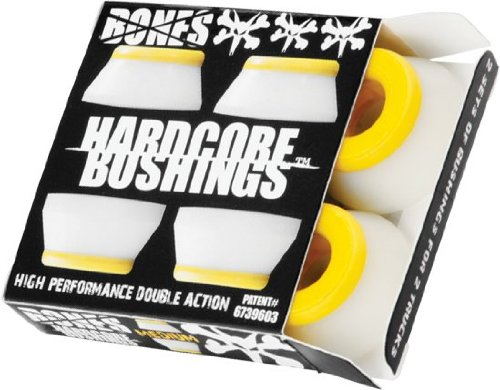 Bones Hardcore 4pc Medium White/Yellow Bushings
