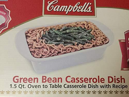 Bean Green Casserole (1.5 Qt Green Bean Casserole Dish, Loaf Pan Casserole with Recipe)