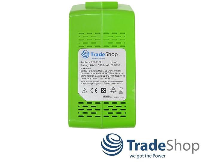 Premium Batterie 40v 5000mah Li-Ion remplace Greenworks G-Max 20302 2601402 29727
