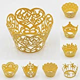 Sophiebella Yellow Cupcake-Wrappers for Muffin-Liners for Party, 60 pcs 5 Packs, Random 5 Styles