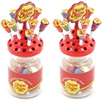 CoscosX 2 Pack Lovely 1:12 Dollhouse Miniature Mini Lollipop with Case Holder Simulation Food for Kids Model DIY Craft…