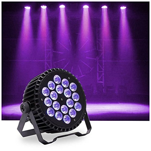 U`King LED Up Lighting Par Lights with 60 LEDs RGB Stage Light by DMX Control for Party Disco Wedding Bar Show Stage Effect Lighting (18LEDs) by U`King