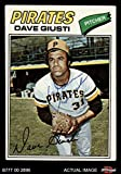 1977 Topps # 154 Dave Giusti Pittsburgh Pirates (Baseball Card) Dean's Cards AUTOGRAPHED Pirates