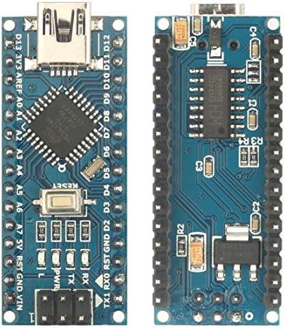 Doudou Mini 2pcs Nano V3.0 CH340G Improved Atmega328P Development Board Microcontroller Board Applied to MCU Development Robot Electronic Building Blocks