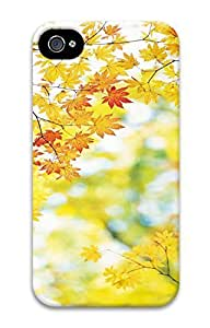 iPhone 4S Case Autumn Maple Leaf Pattern Hard Back Skin Case Cover For Apple iPhone 4 4G 4S Cases