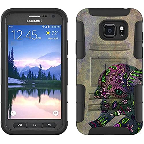 Samsung Galaxy S7 Active Armor Hybrid Case Paisley Elephant 2 Piece Case with Holster for Samsung Galaxy S7 Active Sales